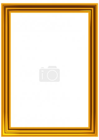 Foto de El marco dorado para una foto - Imagen libre de derechos