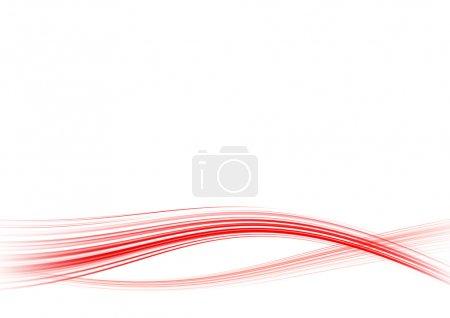 Foto de Fondo blanco abstracto con las líneas rojas dobladas - Imagen libre de derechos