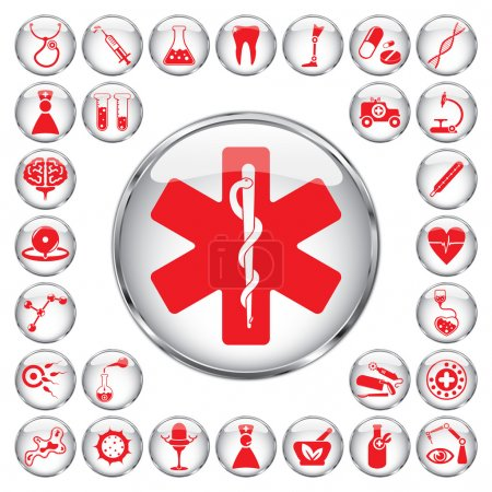 Illustration for 30 medical icons - Royalty Free Image
