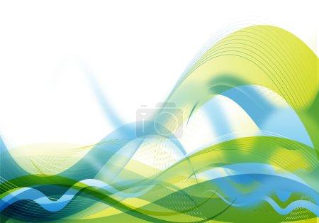 Illustration pour Fond abstrait futuriste aux couleurs bleu et vert - image libre de droit