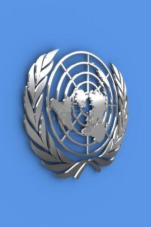 Photo pour Organisation des nations Unies - argentée - image libre de droit