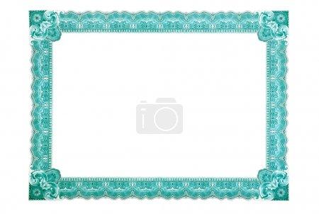Photo pour Modèle de certificat avec un motif complex des lignes fines ondulées. - image libre de droit