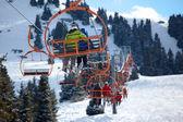 Elevator on mountain ski resort