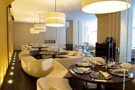 Interior of luxury restaurant
