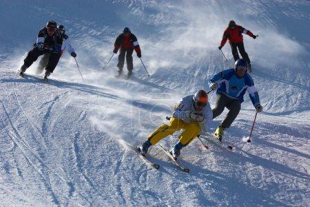 Photo pour Course de ski extrême - image libre de droit
