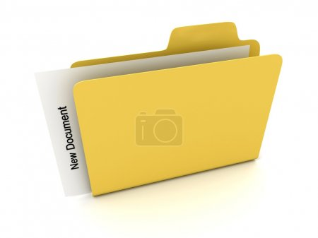 File folder with document