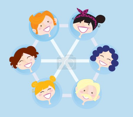 Illustration for Social network group illustration. Vector format. Easy to change colors and resize. - Royalty Free Image