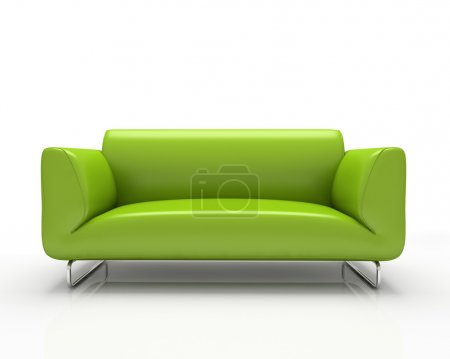 Photo for Modern green sofa isolated on white background - Royalty Free Image