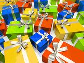 Colour gift boxes