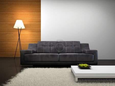 Part of the modern interior with sofa