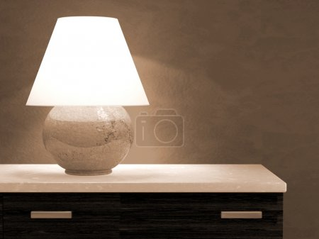 Photo for Lamp on bureau 3D rendering - Royalty Free Image
