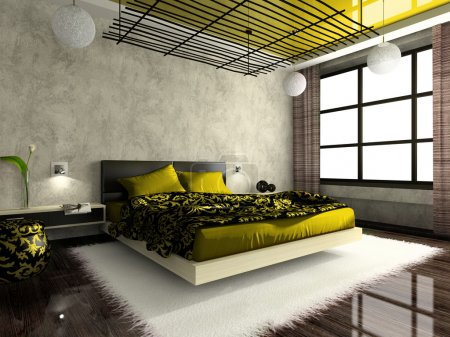 Photo pour Luxueux intérieur de la chambre en couleur verte - image libre de droit