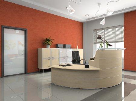 Photo pour Intérieur de la réception moderne au bureau - image libre de droit