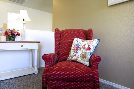 Photo for Close up on a Chair in a Trendy Modern Living Room - Royalty Free Image