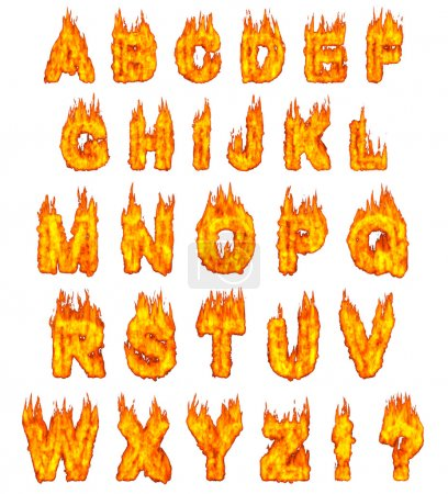 Burning Alphabet