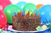Birthday Cake and Balloons