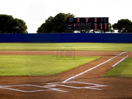 Baseball Stadium with Scoreboard