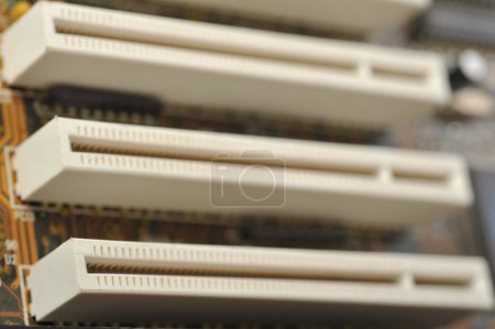 Photo for Computer sockets very close up - Royalty Free Image