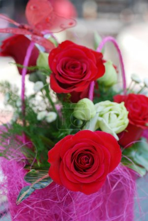 Photo for Bouquet from beautiful red roses - Royalty Free Image