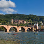 Panoramic view over Heidelberg, Germany...
