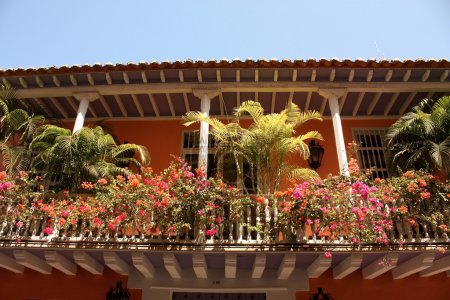 Detail of a colonial house. Cartagena