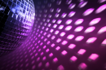 Photo pour Feux de disco violets en toile de fond - image libre de droit