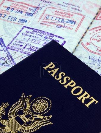 Photo pour Passeport et visa, s - image libre de droit