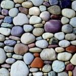 Pebble stone wall...