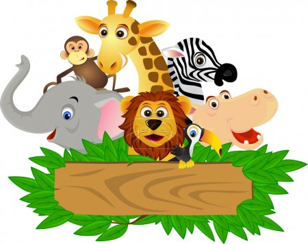 Illustration for Vector illustration of funny animal cartoon - Royalty Free Image