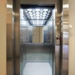 Opened door of elevator in a new building....