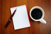 """Постер, картина, фотообои """"Ноутбука и кофе"""""""